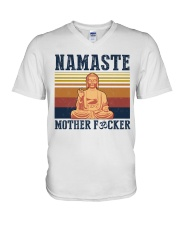 Namaste mother F V-Neck T-Shirt thumbnail