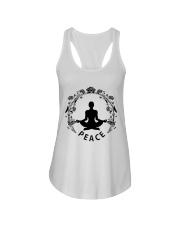 Yoga peace Ladies Flowy Tank thumbnail