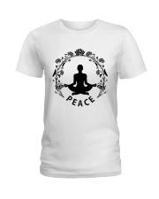 Yoga peace Ladies T-Shirt front
