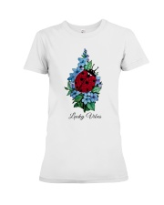 Lucky vibes Premium Fit Ladies Tee front
