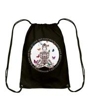 Be kind and full of love Drawstring Bag thumbnail