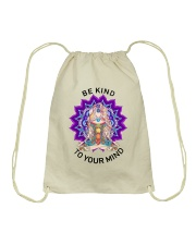 Be kind to your mind Drawstring Bag thumbnail