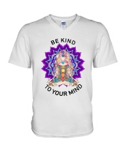 Be kind to your mind V-Neck T-Shirt thumbnail
