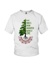 Plant smiles grow laughter harvest love Youth T-Shirt thumbnail