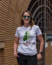 Plant smiles grow laughter harvest love Ladies T-Shirt lifestyle-women-crewneck-front-2