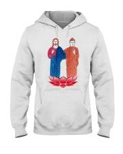 Buddha and Jesus Hooded Sweatshirt thumbnail