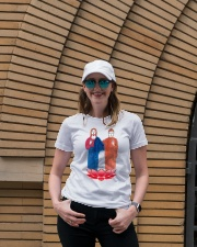 Buddha and Jesus Ladies T-Shirt lifestyle-women-crewneck-front-4