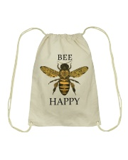 Bee happy Drawstring Bag tile