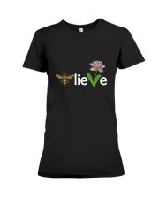 Believe Premium Fit Ladies Tee front