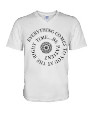 Everything comes to you at the right time V-Neck T-Shirt thumbnail