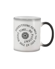 Everything comes to you at the right time Color Changing Mug thumbnail