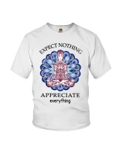 Expect Nothing Appreciate Everything Youth T-Shirt thumbnail