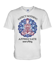 Expect Nothing Appreciate Everything V-Neck T-Shirt thumbnail