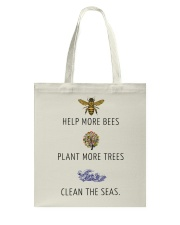 Help more bees plant more trees Tote Bag thumbnail