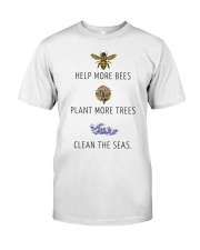Help more bees plant more trees Classic T-Shirt thumbnail