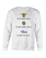 Help more bees plant more trees Crewneck Sweatshirt thumbnail