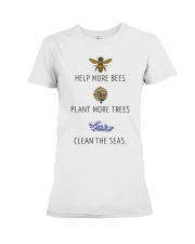Help more bees plant more trees Premium Fit Ladies Tee thumbnail