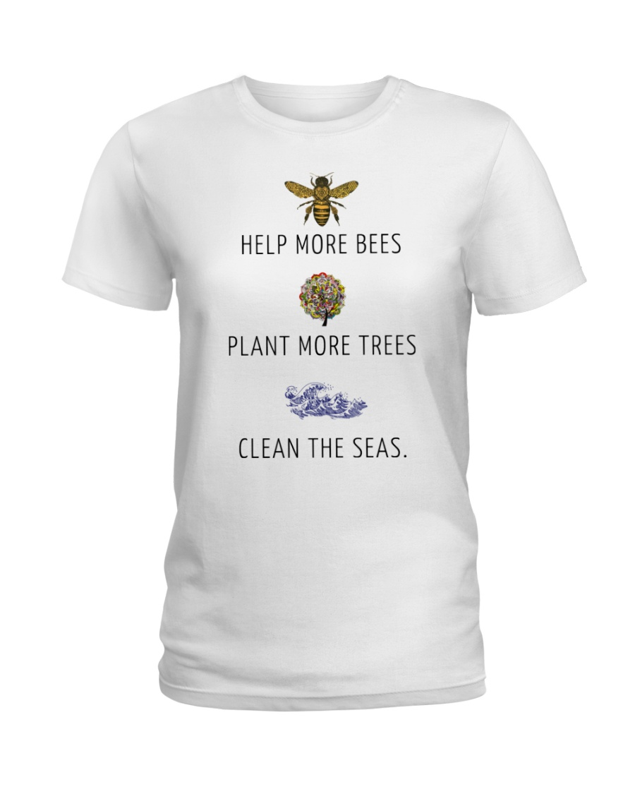 Help more bees plant more trees Ladies T-Shirt