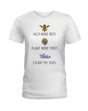 Help more bees plant more trees Ladies T-Shirt front