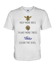 Help more bees plant more trees V-Neck T-Shirt thumbnail