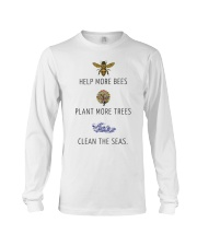 Help more bees plant more trees Long Sleeve Tee tile