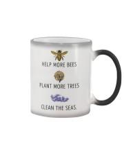 Help more bees plant more trees Color Changing Mug thumbnail