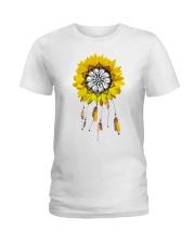 Sunflower mandala Ladies T-Shirt front