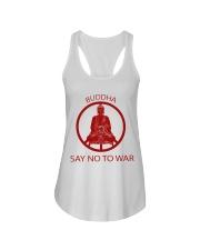 Buddha say no to war Ladies Flowy Tank thumbnail