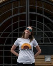 Live a little Ladies T-Shirt lifestyle-women-crewneck-front-1