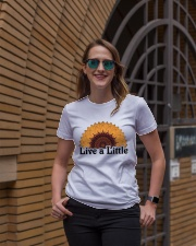 Live a little Ladies T-Shirt lifestyle-women-crewneck-front-2