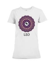 Leo Mandala Premium Fit Ladies Tee front