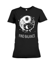 Find balance Premium Fit Ladies Tee tile