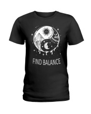 Find balance Ladies T-Shirt tile