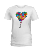 Let it be heart balloon Ladies T-Shirt front