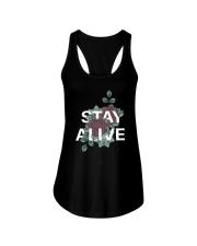 Stay alive Ladies Flowy Tank thumbnail
