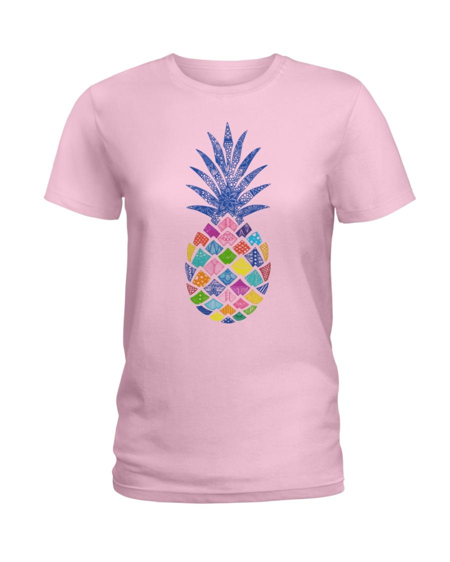 Mandala pineapple Ladies T-Shirt