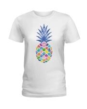 Mandala pineapple Ladies T-Shirt tile
