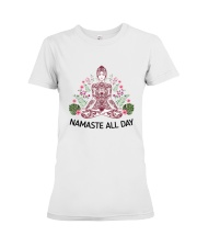 Namaste all day Premium Fit Ladies Tee front