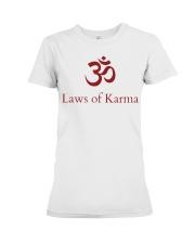 Laws of Karma Premium Fit Ladies Tee front