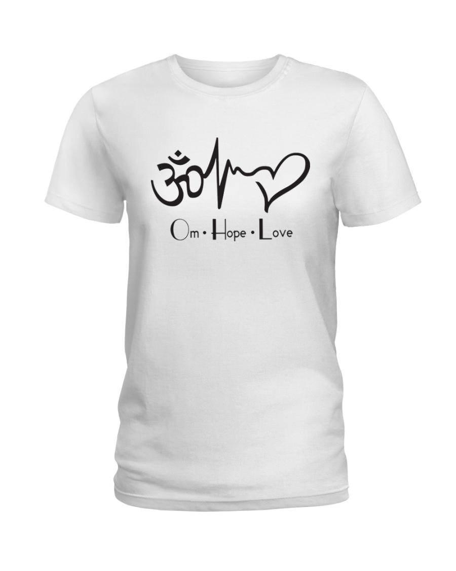 Om hope love Ladies T-Shirt