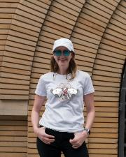Namaste om Ladies T-Shirt lifestyle-women-crewneck-front-4