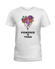 Powered by yoga Ladies T-Shirt front