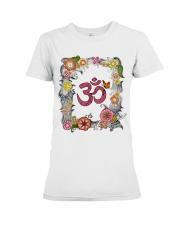 Om flowers Premium Fit Ladies Tee thumbnail