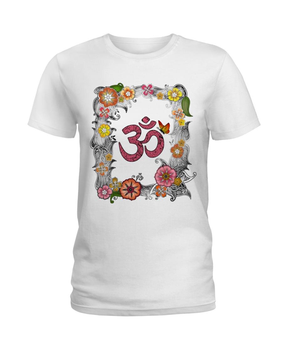 Om flowers Ladies T-Shirt
