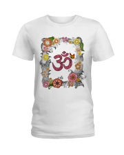 Om flowers Ladies T-Shirt front