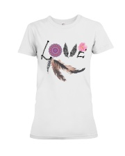 Love feather Premium Fit Ladies Tee front