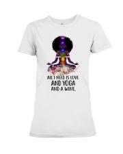 All i need is love and yoga Premium Fit Ladies Tee thumbnail
