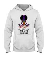 All i need is love and yoga Hooded Sweatshirt thumbnail