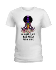 All i need is love and yoga Ladies T-Shirt front