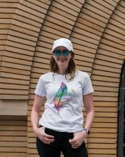 Mandala feather Ladies T-Shirt lifestyle-women-crewneck-front-4